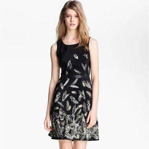 Miss Wu by Jason Wu Bella feather print dress